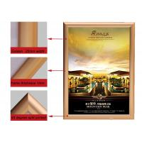 Cheap A2 Size Golden Color Aluminium Snap Frames, Jewelry Advertising Snap Display Frames for sale