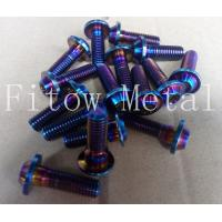 Cheap Titanium Rainbow Anodized Tapered Screw with Washer for sale