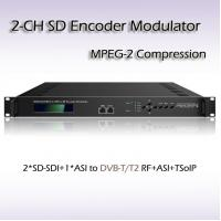 China REM7204 Two-Channel Video Processor SD-SDI TO DVB-T MPEG-2 SD Encoding Modulator on sale