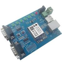 Cheap Hot WIFI to dual serial ports, WIFI to USB, WIFI networking evaluation board wifi module for sale