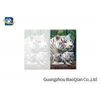 Cheap Lovely Animals 3D Image Lenticular Card Printing Two Sides CMYK Offset Printing for sale