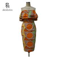China Sleeveless Style Women Knee Length African Print Dresses For 18-45 Age on sale