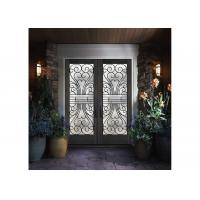 Buy cheap Custom Wrought Iron Entry Doors Thickness 30 Mm S509 Type Iron Mosaic Glass from wholesalers