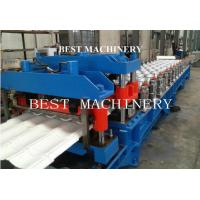 China Guide Pillar Roofing Glazed Tile Roll Forming Machine with 18 Station Groups on sale