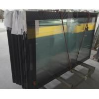 China Ultra Clear 5mm Low Iron Printed Glass with Black Boarder RAL9005 Toughened Glass Panels on sale