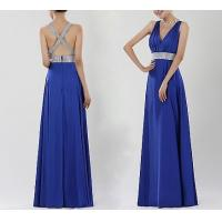 Cheap Blue Backless Evening Dresses , Formal Evening Dresses For Women for sale