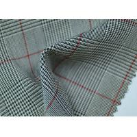 Cheap 100% Polyester Cotton Yarn Dyed Fabric / Grey Striped Fabric Eco - Friendly for sale