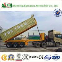 China Shengrun Back Dump and Tipper Flatbed Truck Trailer with Box on sale