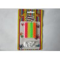 Cheap Funny No Drip Bright Happy Birthday Cake Candles 8Pcs / 6.3G For Home Decoration for sale