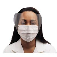 Fluid Resistant Medical Face MaskSingle Use , Surgical Mask With Face Shield