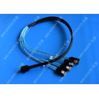 Cheap Internal HD Mini SAS (SFF-8643) to 4 SATA Reverse Breakout Cable 0.5m wholesale