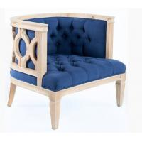 China French antique natural oak wood frame event rental wedding single sofa/armchair,weding chair on sale