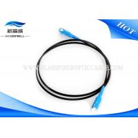 Buy cheap White Black Fiber Optic Patch Cables OS2 Low Insertion Loss With Custom Length from wholesalers