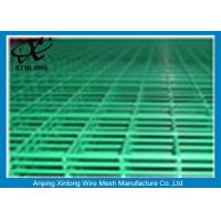 China Steel Bar Welded Wire Mesh Fence Panels , Pvc Coated Wire Mesh Panels on sale