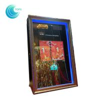 Cheap Led open air wedding photo booth 3d mirror selfie photo booth for sale