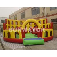 Cheap Red Bull commercial inflatable bouncers Playground With 8 x 8 x 3.6m Plato TM for sale
