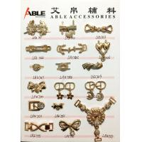 China Popular Nickel Sparkling Zinc Alloy Buckle , Small Shoe Buckles For Woman on sale