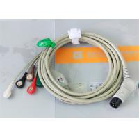 Cheap TPU Material Patient Monitor Accessories One Piece ECG Cable Compatible M&B for sale