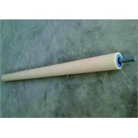 Cheap Steel Shaft Conveyor Return Rollers With Blue Cover Power Plant Return Idler Rollers for sale
