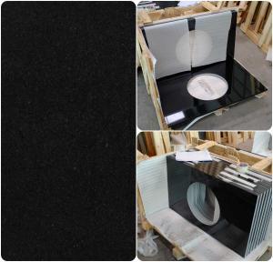 China Black Natural Granite Countertops , High Density Solid Black Granite Countertops on sale