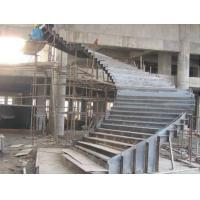 Customized Q235 Durable Structural Steel Stairs 8mm Thickness Easy Installation