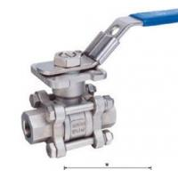 Cheap PTFE Seat 8 Stainless Steel Float Ball / Flanged Ball Valves Compact Structure for sale