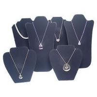 "Cheap 14"" 6Pc SET NECKLACE PENDANT EARRING BLACK VELVET JEWELRY DISPLAY SET for sale"