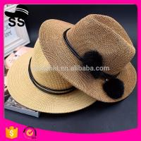 Cheap 2017 Fabrics Used Make Cheap Panama D30cm 60g China Cowboy Paper Women Summer Straw Hats for sale