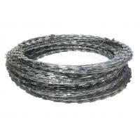 Zinc Plated Razor Barbed Wire Coil Sun Resistant 980MM Outer Diameter