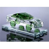 China Car Shape Crystal Decorative Glass Bottles Yellow / Green / Blue / White Color Optional on sale