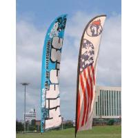 Cheap Trade Show Feather Flags Banner , Swooper Flag Feather Fly Knitted Polyester for sale