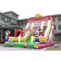 Cheap Clown Commercial Inflatable Slide Inflatable Bounce Slide With Good Printing for sale