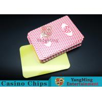 Cheap PVC plastic Casino Poker Playing Card Die Cutting Card With Custom Quality And Pro Service Four Color wholesale