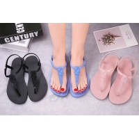 China Pvc Summer Size 36-41# Womens Jelly Flip Flops on sale
