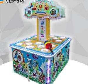 Aluminium Frame Children'S Arcade Machines Hammer Hitting Game For Double Players
