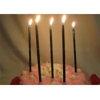 Buy cheap Glittery Black Birthday Candles Dark Green Shimmering Powder Glitter Pillar from wholesalers