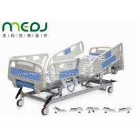 Cheap Electric Control Medical Hospital Beds MJSD04-08 With 4 - Section ABS Guardrail for sale