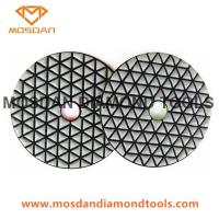 Cheap 4 Inch Triangle Segment Dry Polishing Pads for Marble Stone Slab for sale