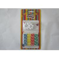 Cheap Bright Smokeless Colorful Birthday Candles Water Soluble With Logo Printing for sale