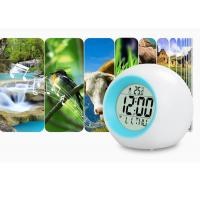 Cheap Battery Light Color Changing Led Cube Alarm Clock Flashing Light / Nature Sounds for sale