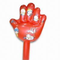 Cheap PVC Inflatable Hand with Customized Designs, Various Colors are Available for sale