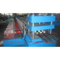 Buy cheap PLC Control Crash Barrie Guardrail Roll Forming Machine , Highway Guardrail from wholesalers