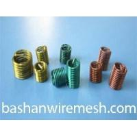 Buy cheap Color high temperature alloy stainless steel screw wire thread inserts from wholesalers