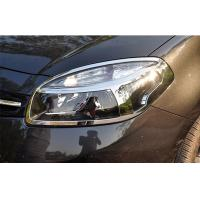 China Customized ABS Chrome Headlight Bezels / Auto Headlight Covers For Renault Koleos 2012 on sale