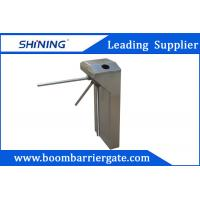 Cheap 30 Persons / Min Swing Arm Tripod Turnstile Gate With Direction LED Light Sign for sale
