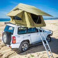Cheap Aluminum Pole Pick Up Roof Tent , Jeep Wrangler Unlimited Roof Top Tent for sale