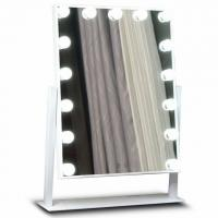 Cheap Premium Led MakeUp Mirror Metal Frame For Salon , Hollywood Led Mirror for sale