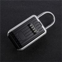 Cheap Auto Key Safe Car Lock Box For Keys 4 Digit Combination Aluminum Alloy Frame for sale