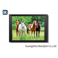 Cheap 0.6 MM Custom Size 3D Horse Pictures For Adverting / Decoration Three Filps for sale