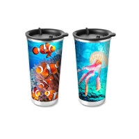 Cheap Food Grade 3D Lenticular Printing Service Plastic Kids Drinking Cup for sale